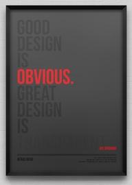 good design obvious best transparent
